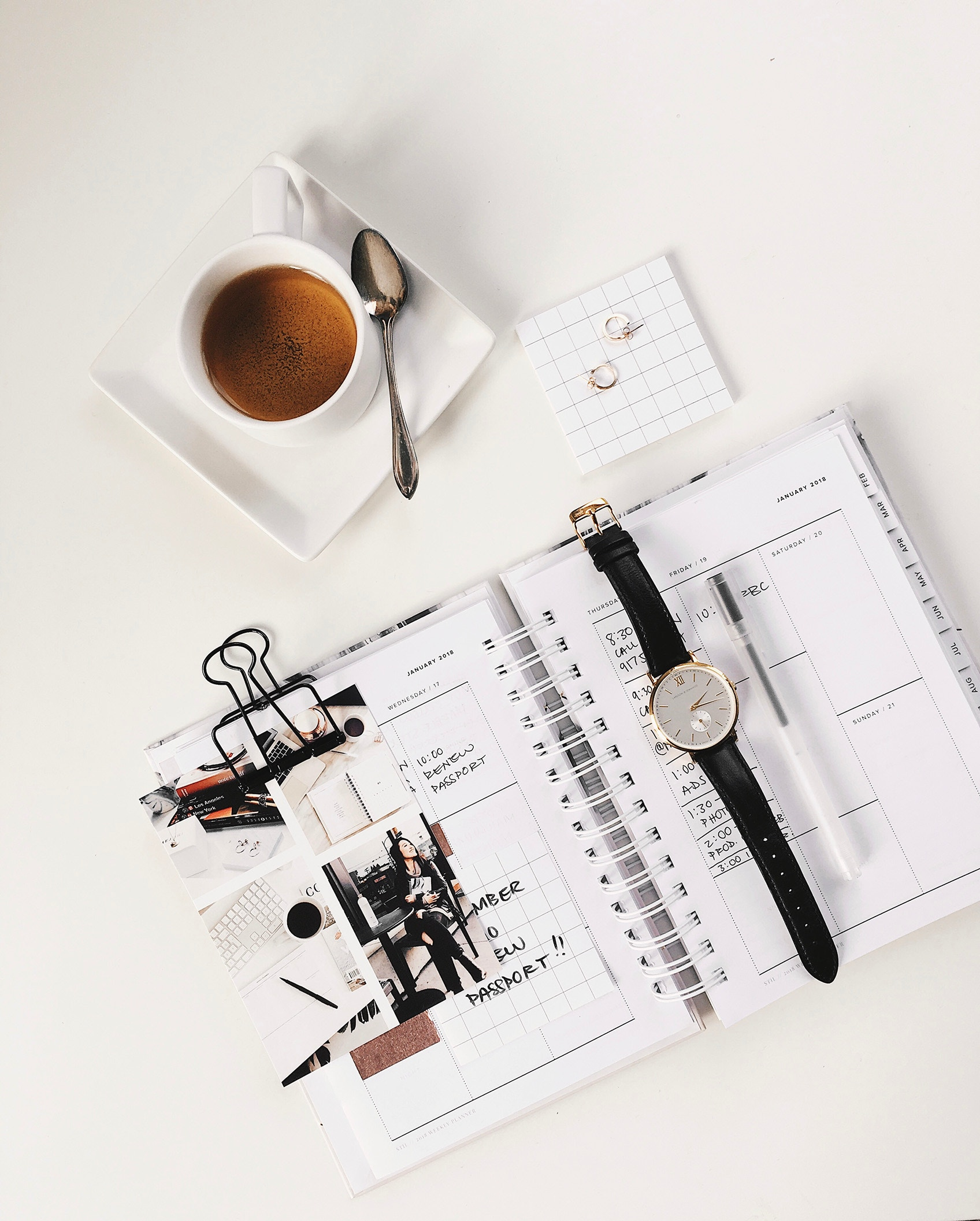 human, diary and a watch