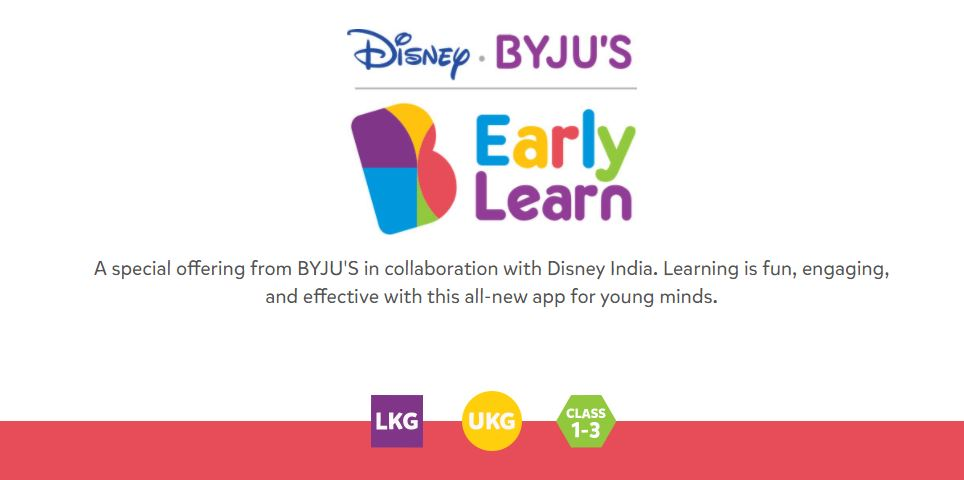 Byju's early learning app
